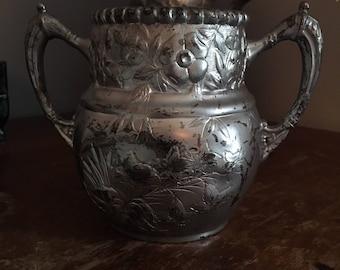 Silver Sugar Pot
