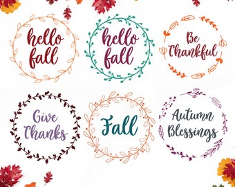 Fall SVG File, Fall Quotes, SVG Bundle, Fall Bundle, Fall Quote, SVG Cut Files, Circuit, Silhouette, Happy Fall, Be Thankful