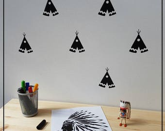 20 stickers Tipis Indians to decorate your child's room!