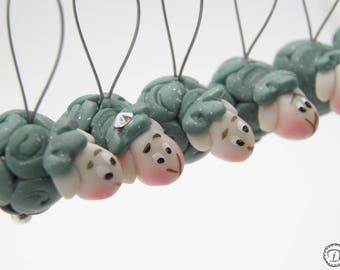 Anneaux marqueurs Les P'tits Moutons (jumbo) - vert foncé