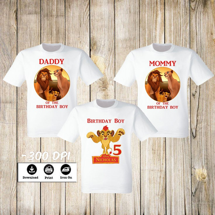 Birthday Boy Lion King Iron On Transfer Family Set T Shirt Disney Party Of 3 From