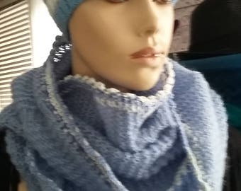 Hat, snood and matching mittens set