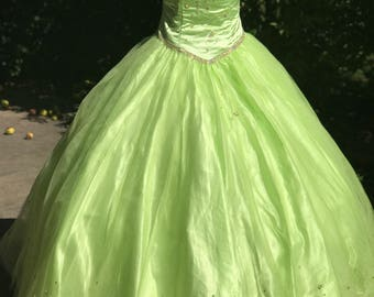 Lime Green Quinceanera Dress Gown Custom Made Off The