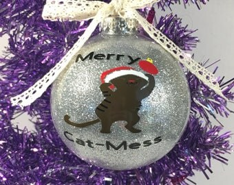 Personalized Cat Ornament, Cat Christmas Ornament, Cat Christmas, Custom Ornament, Custom Gift, Handmade Ornament, Cat Lover Gift
