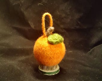 Felted Ornament--Orange