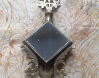 Vintage Brass Surmedani Free Standing Vanity Mirror