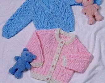 Raglan Cardigans, Knitting Pattern, Instant Download.
