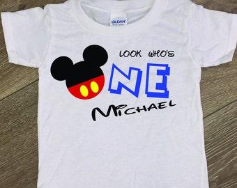 Mickey Birthday Shirt, Mickey First Birthday, Boy first birthday, mickey mouse, mickey mouse birthday,  first birthday shirt
