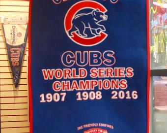 Chicago Cubs 2016 World Series Champions Dynasty Banner