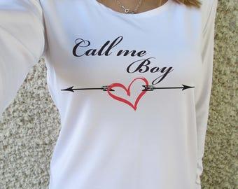 Long  sleeve t-shirts  / Best  top / call me  boy / blouse long  sleeve / long-sleeved shirt / famous  shirt / famous top/1622