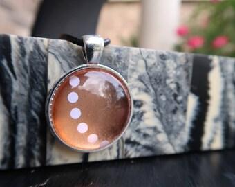 Polka Dot Rose Gold Pendant
