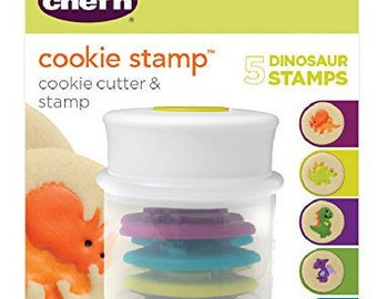 Chef'n Cookie Cutter and Stamp - 5 Dinosaur Stamps