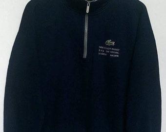 VINTAGE CHEMISE LACOSTE Sweatshirt Logo Lacoste / crocodile / zip / size 4