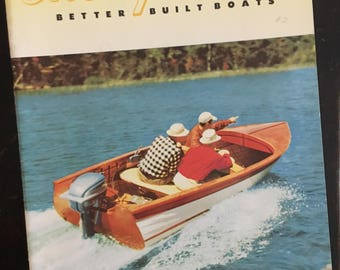 Vintage Thompson Boat Catalog from 1954