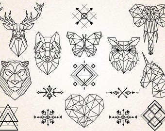 Geometric Tattoo Etsy