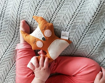 Fox rattle, fox, rattle, soft toy, baby gift