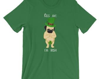 st paddys day, St Patricks Day tee, st patricks day t shirt, st patricks day funny, pug lover, St Patrick's shirt,  pug gifts