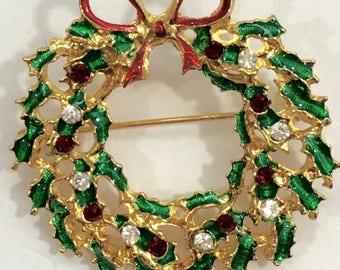 Holiday Wreath Brooch