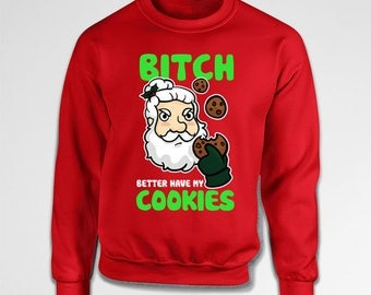Funny Santa Sweater Ugly Christmas Sweatshirt Xmas Clothing Holiday Jumper Christmas Ideas Gift Ideas For Men X-Mas Crewneck Hoodie TEP-530