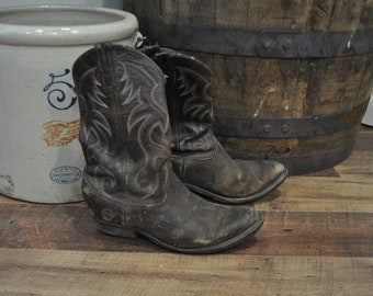 Vintage Well Worn Men's US 8.5 3B Cowboy Boots - Double H AreoGlide 7