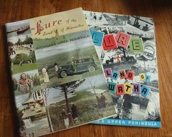 2 1930s Michigan Upper Peninsula Travel Magazines