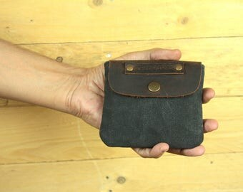 Coin Purse/Waxed Canvas wallet/Cardholder/waxed canvas small pouch/tobacco pouch/wallet/coin purses/All cosmetic bag