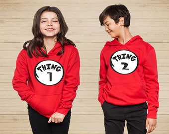 Thing 1 And Thing 2 Youth Hoodies, Thing 1 And Thing 2 Shirts Dr Seuss T Shirts Thing Dad Shirt Thing Mom Shirt Thing T-Shirts Couple Shirts