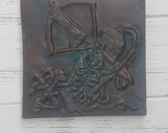 Sagittarius, Zodiac tile, Astrology tile, Astrological signs, Astrological signs, Horoscope, unique, Celtic knot, gift, ceramic plaque