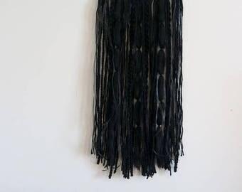 Metal Hoop Wall Hanging With Texture Yarn