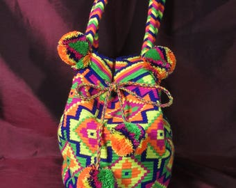 HANDMADE Psychedelic Colombian Mochila Bag
