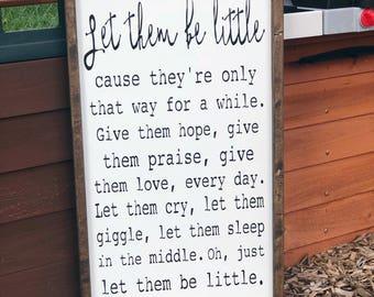 let them be little framed wood sign playroom decor nursery decor baby shower