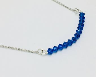 Azure Swarovski Elements Necklace