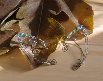 Wire Wrapped Pixie Ear Cuffs Sapphire