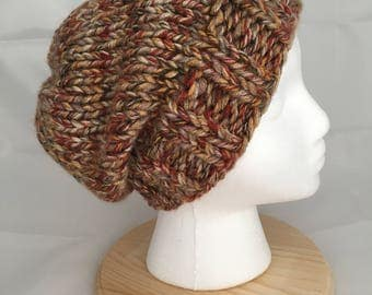 Autumnal slouch beanie