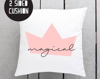 magical pillow, pink theme, girls room cushion, throw cushion, girls room, gift for girl