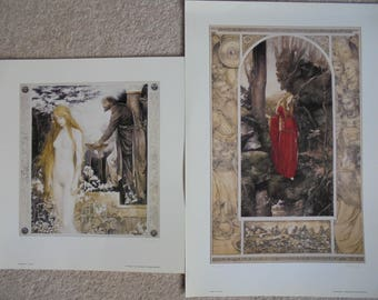 Limited editon, signed, Olwen and Blodeuedd prints by Alan Lee, in very good condition.