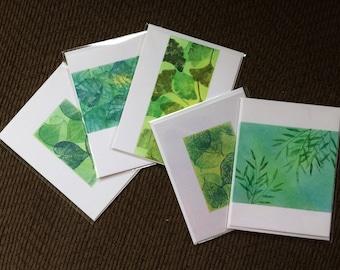 SALE! Set of 5 blank cards, individually handmade: fine card, note card, original, artistic, SKU BLA2SET1