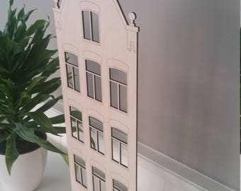 Amsterdam Canal Houses, home decor, handcrafted gift, unique design, gifts for her, gifts for him, wanderlust