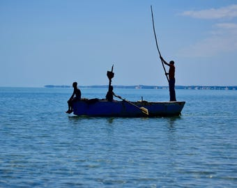 Fisherman in Mozambique, Printable Wall Art