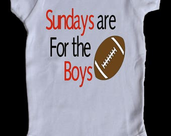 Sundays Are For the Boys Baby Onesie