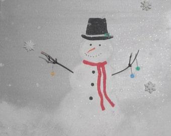Snowman on Silver