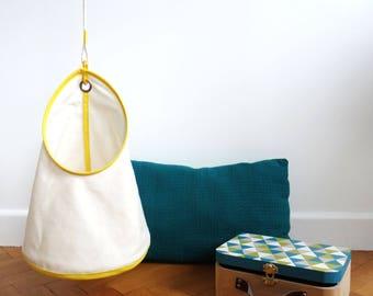 Children hanging storage - small model - yellow