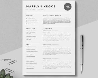 creative resume template clean professional resume template 3 pages pack instant download