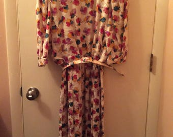 Vintage Adrianna Papell Silk Dress Size 8