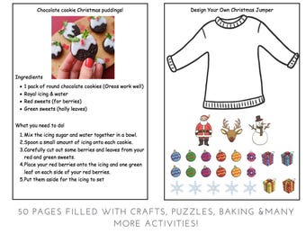 Christmas Activity Book Printable - Teacch activities- workstation tasks- Basket task