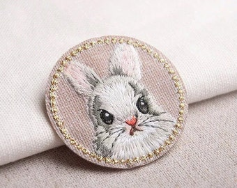 Rabbit Patch,Animal Patch,Embroidered Patch for Jeans/hat/backpack/shoes,iron on patch, sew on patch,Christmas gifts
