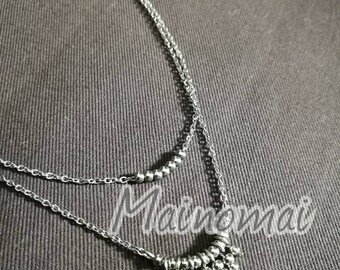 Thin necklace with micro steel balls