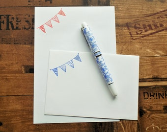 Patterned Bunting Letter/Writing/Stationary Set