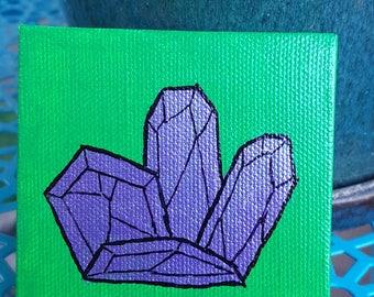 Purple Spring Crystal Cluster