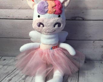 Cute Unicorn with wings and tutu